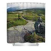 Appalachian Trail Mountain Path Saddleback Maine Shower Curtain