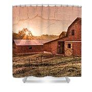 Appalachian Barns Shower Curtain
