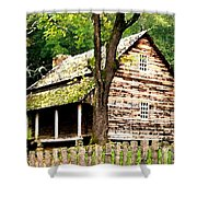 Appalachian Cabin Shower Curtain