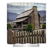 Appalachian Mountain Cabin Shower Curtain by Randall Nyhof
