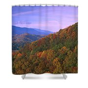 Appalachian Mountains Ablaze  Shower Curtain