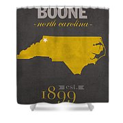 Appalachian State University Mountaineers Boone Nc College Town State Map Poster Series No 010 Shower Curtain