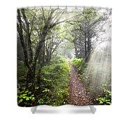 Appalachian Trail Shower Curtain by Debra and Dave Vanderlaan