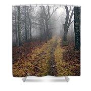 Appalachian Trail Fog Shower Curtain