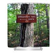 Appalachian Trail Sign North Shower Curtain