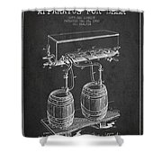 Apparatus For Beer Patent From 1900 - Dark Shower Curtain