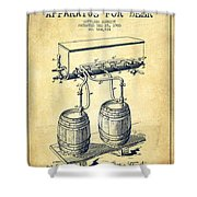 Apparatus For Beer Patent From 1900 - Vintage Shower Curtain