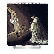 Apparition Of Apostle Saint Peter To Saint Peter Nolasco Shower Curtain