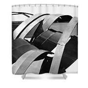 Apparitions Of Faces  Shower Curtain