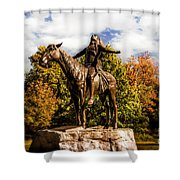 Appeal To The Great Spirit Shower Curtain by Tamyra Ayles
