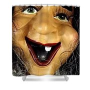 Appeasing Apple Cart Shower Curtain