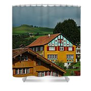 Appenzell Famous Windows Shower Curtain