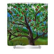 Apple Acres Shower Curtain