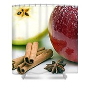 Apple And Cinnamon Shower Curtain
