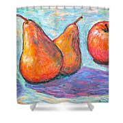Apple And Pear Twirl Shower Curtain