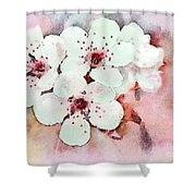 Apple Blossoms Pink - Digital Paint Shower Curtain