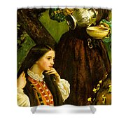 Apple Blossoms Spring Shower Curtain