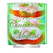 Apple Cinnamon Muffins Shower Curtain