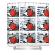 Apple Collage Shower Curtain