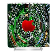 Apple Computer Abstract  Shower Curtain