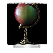 Apple Globe Shower Curtain
