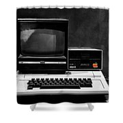 Apple II Personal Computer 1977 Shower Curtain by Bill Cannon