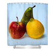 Apple - Lemon - Pear Shower Curtain