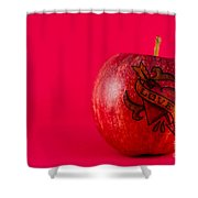 Apple Love From Tattoo Series Shower Curtain