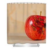 Apple Love Shower Curtain