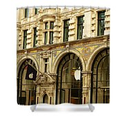 Apple On Regent Street Shower Curtain by Connie Handscomb