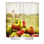 Apple Picking Time Shower Curtain