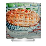 Apple Pie With Lattice Crust Shower Curtain