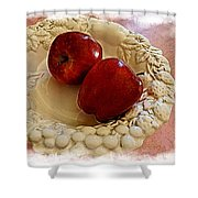 Apple Still Life 3 Shower Curtain