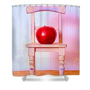 Apple Still Life With Doll Chair Shower Curtain by Edward Fielding