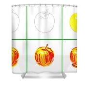 Apple Study Shower Curtain