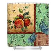 Apple Tapestry-jp2203 Shower Curtain