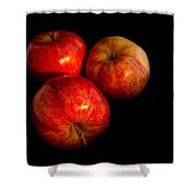 Apple Trio Shower Curtain