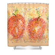 Apple Twins Shower Curtain