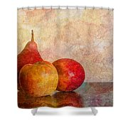 Apples And A Pear Shower Curtain