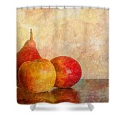 Apples And A Pear II Shower Curtain