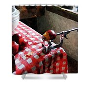 Apples And Apple Peeler Shower Curtain