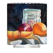 Apples And Oranges Shower Curtain by Mohamed Hirji