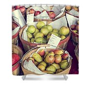 Apples And Pears For Sale Shower Curtain