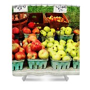Apples At Farmer's Market Shower Curtain