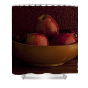 Apples In Bowl Still Life Shower Curtain