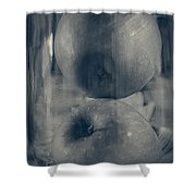 Apples In Glass Shower Curtain
