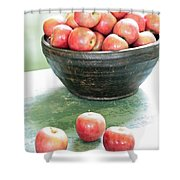 Apples On The Table  Shower Curtain