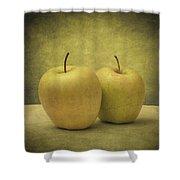 Apples Shower Curtain by Taylan Apukovska