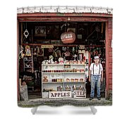 Apples. The Natural Temptation - Farmer And Old Farm Signs Shower Curtain
