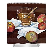 Apples With Honey Shower Curtain
